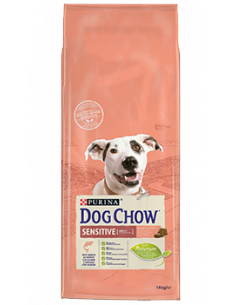 Purina dog chow sensitive au saumon 14kg