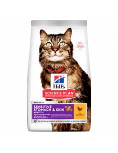 HILL'S SCIENCE PLAN Aliment Pour Chat Adulte Sensitive Stomach & Skin Poulet 1.5KG