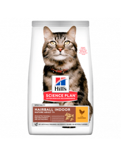 HILL'S SCIENCE PLAN Aliment pour Chat Adulte Mature Hairball Indoor au Poulet 1.5KG