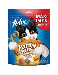 "Purina ""party mix original"" Poulet, foie et dinde 200g"