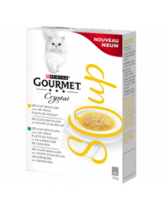 "Gourmet ""crystal soup"" au filet de poulet 4x40g"