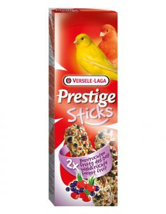 Prestige sticks fruit rouge 2X60g pour canaris