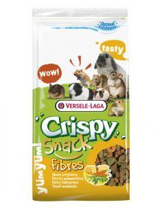 """Crispy """"snacks fibres"""" à la luzernes et carottes pour petits mammifères 650g"""