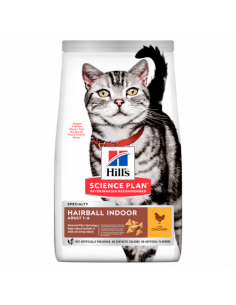 Chat Adulte Hairball Indoor Poulet 3KG