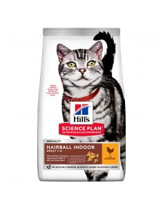 HILL'S SCIENCE PLAN Aliment pour Chat Adulte Hairball Indoor Poulet 1.5kg