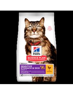 HILL'S SCIENCE PLAN Aliment Pour Chat Adulte Sensitive Stomach & Skin Poulet 7kg