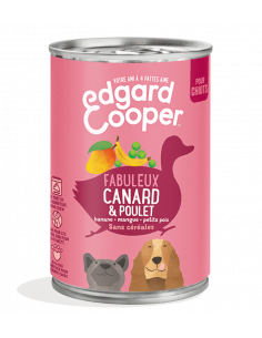 PATEE CHIOT 400G EDGAR COOPER CANARD POULET