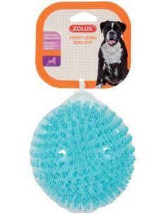 Zolus jouet TPR balle pic turquoise 8 cm