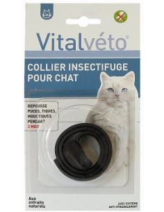 Collier insectifuge pour chat VITAL VETO