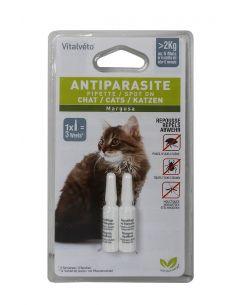 Lot de 2 pipettes insectifuges pour chat VITAL VETO
