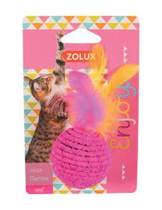 Zolux jouet chat elastique balle