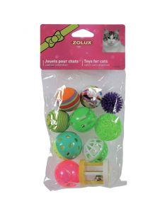 Zolux jouet chat multi-formes set de 10