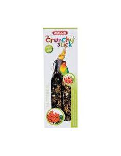 Zolux friandise oiseau  crunchy stick grande perruche groseille/sorbier
