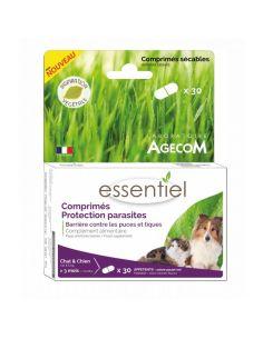 Agecom antiparasitaire essentiel chien chat cpr/30