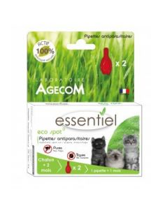 "Agecom ""Essentiel"" pipettes antiparasitaire chat 3 tailles"