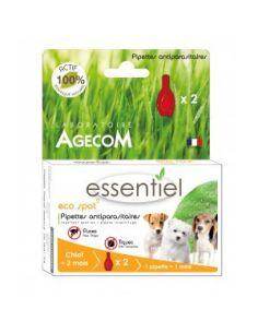 "Agecom ""Essentiel"" pipettes antiparasitaire chien 3 tailles"