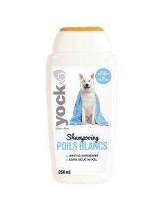 Shampoing pour Chien Yock Bien-Être Poils Blancs 250 ML