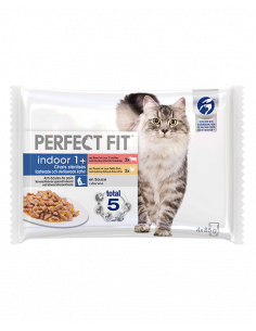 PERFECT FIT INDOOR 1 CHAT STERILISE 4X85G