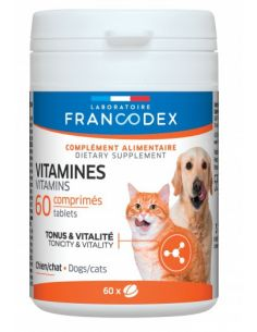 FRANCODEX Vitamines Pour Chiens et Chats 60 CPS