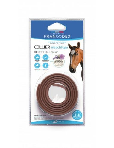 FRANCODEX Collier Insectifuge pour Cheval