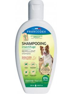FRANCODEX Shampooing Insectifuge Fruité Pour Chiens et Chats 250 ML