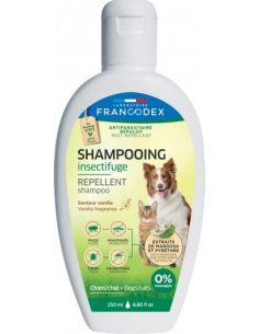 FRANCODEX Shampooing Insectifuge VANILLE Pour Chiens et Chats 250 ML
