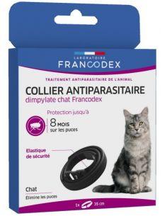 FRANCODEX Collier Antiparasitaire Dimpylate Pour Chats NOIR
