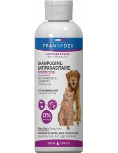 FRANCODEX Shampooing Antiparasitaire Diméthicone 200 ml Pour Chiens et Chats