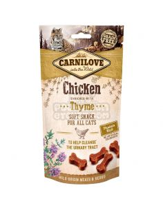 FRIANDISE CARNILOVE CHAT POULET THYM 50G