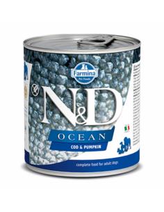 N&D Chien ocean morue & potiron 285G