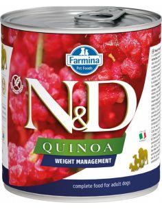 N&D chien Quinoa weight management 285G