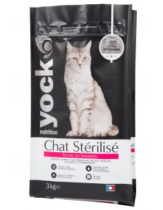 YOCK NUTRITION CHAT STERILISE SAUMON 3KG