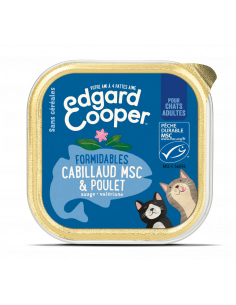 BARQUETTE CHAT ADULTE POULET CABILLAUD 85G