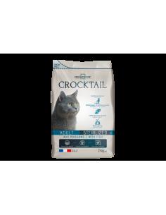 Crocktail chat adulte stérilisé au poisson