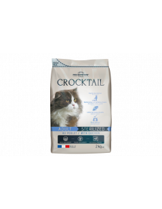 Crocktail chat adulte stérilisé au poulet
