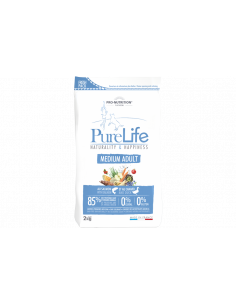 Purelife chien adulte medium saumon et canard
